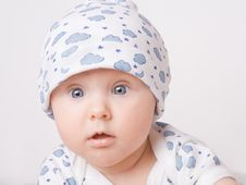 Free Small Child In Blue Pajama Royalty Free Stock Photo - 7794485