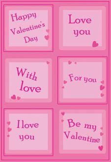 Free Valentine Cubes Stock Image - 7794591