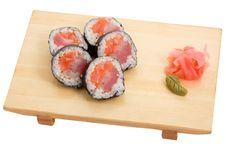 Roll Japanese Perch Salmon Tuna Royalty Free Stock Image