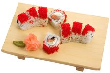 Free Philadelphia Roll Salmon Cucumber Tobiko Stock Photos - 7795663