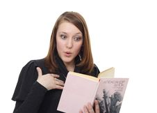 Free The Girl And The Book Royalty Free Stock Photography - 7795717