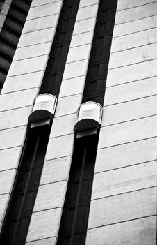 Skyscraper Elevators Royalty Free Stock Photo
