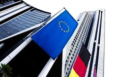 Free European Flag Over High Building Royalty Free Stock Photo - 7795785