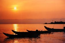 Free Sunset, The Fisher S Small Boats Stock Photos - 7796233