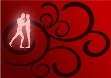 Lovers Dancing Royalty Free Stock Images