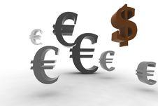 Euro/dollar Symbols Royalty Free Stock Images