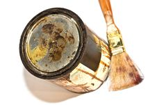 Free Can Of Stain And Brush Stock Photos - 7797143