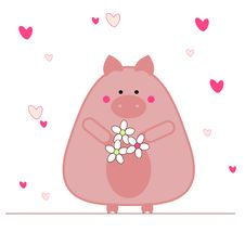 Free Pig In Love Stock Photo - 7797980