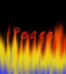 Free Peace On Fire Royalty Free Stock Photography - 7798147