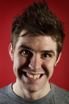 Free Young Happy Man With Closed Teeth Stock Photography - 7798212
