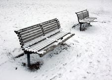 Free Benches At Winter Royalty Free Stock Photo - 7798415