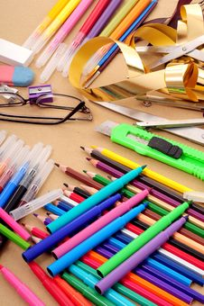 Artist Table Royalty Free Stock Images