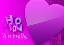 Violet Valentine S Day Illustrated Heart Stock Images