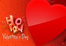Free Red Valentine S Day Illustrated Heart Royalty Free Stock Photography - 7798597