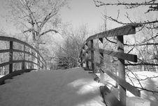 Free Monochrome Wooden Bridge Royalty Free Stock Photos - 7798908