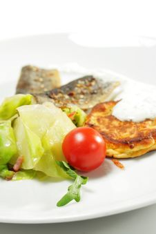 Cherry Tomato On A Fish Plate Stock Images