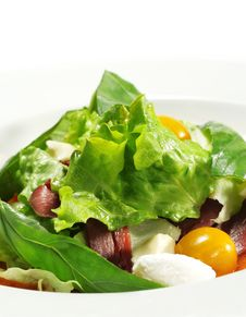 Free Salad - Smoked Magret With Red Chaud-Froid Sauce Stock Photos - 7799313