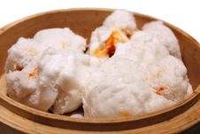 Chinese Barbecued Pork Bun (Cha Siu Baau) Royalty Free Stock Images