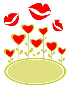 Free Hearts And Kisses Frame Royalty Free Stock Images - 7799469
