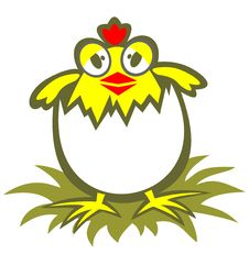 Cartoon Chicken Royalty Free Stock Images