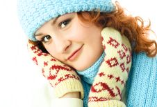 Free Beautiful Ginger Girl Wearing Winter Clothes Royalty Free Stock Photography - 7799687