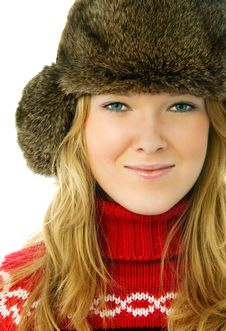 Free Beautiful Woman Wearing Warm Winter Clothes Royalty Free Stock Photography - 7799747