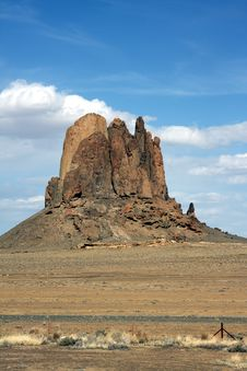 Large Mountain In Desert Royalty Free Stock Images