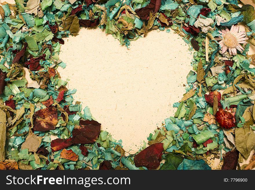 Shaoe heart and Petals