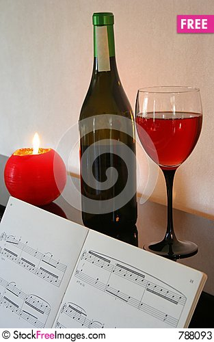 Free Piano And Wine Stock Photos - 788093