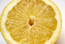 Piece Lemon Stock Photography