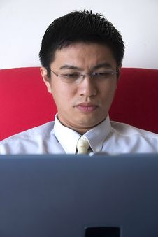 Free Young Asian Entrepreneur Working Royalty Free Stock Photo - 780875
