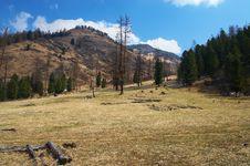 Free Mountainside And Blue Sky. Stock Photos - 782203