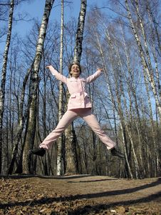 Free Jump Girl In Park Stock Image - 782401