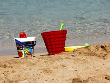 Free Beach Tools Royalty Free Stock Photos - 783968
