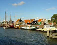 Free Dutch Fishing  Village Stock Images - 785554