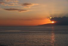 Free Sun Down Over Gomera Stock Image - 786831