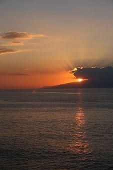 Free Sun Down Over Gomera Royalty Free Stock Image - 786876