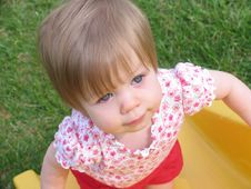 Free Baby Playing On Slide Royalty Free Stock Photo - 787895