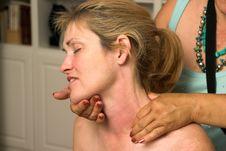 Free Beautiful Woman Receiving Massage 70 Royalty Free Stock Image - 789766