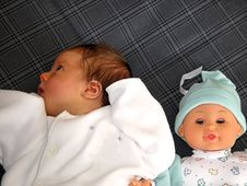 Free Baby And Doll Stock Image - 789951