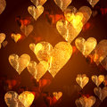 Free Golden Hearts Background Royalty Free Stock Photos - 7800538