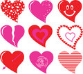 Free Vector Heart Set Royalty Free Stock Image - 7802056