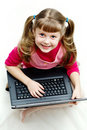 Free Little Girl With Laptop Royalty Free Stock Photo - 7803645