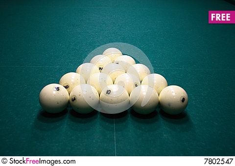 Free Pool Balls Royalty Free Stock Photography - 7802547