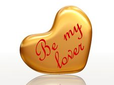Free Be My Lover In Golden Heart Stock Images - 7800044