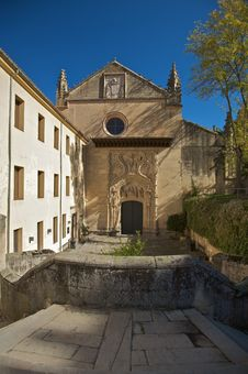 Access To Monastery At Segovia Royalty Free Stock Images