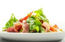 Free Salad With Meat And Vegetable Leaf Royalty Free Stock Photography - 7800627