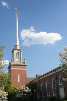 Church And Steeple Stock Photography