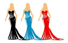 Free Fashion Silhouettes With Purses Stock Photo - 7800650