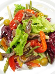 Salad With Anchovy Royalty Free Stock Photography